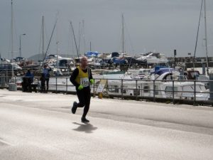 Dave Parsons at the harbour in Guernsey Easter Runs