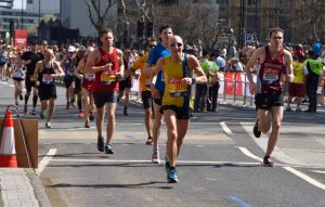 Graeme Miller progressing well in the London Marathon
