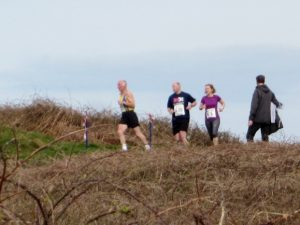 Ian Graham at the top of the ascent in Guernsey Easter Runs