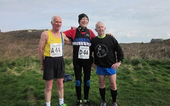 Ian, Peter and Dave before Guernsey Easter Runs relay