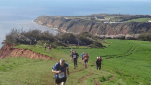 Exe to Axe coastal path runs from Exmouth to Seaton