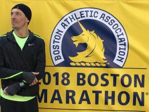 Jacek Cieluszecki before the Boston Marathon