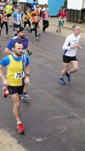Michael Cowham in Rotary East Cliff Easter Quarter Marathon