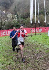 Ollie Stoten in muddy CTS Exmoor Ultra