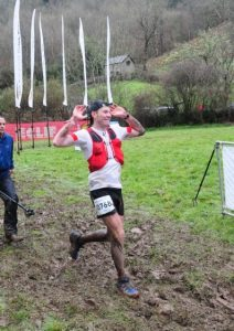 Ollie Stoten approaches the finish in CTS Exmoor Ultra