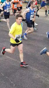 Rich Nelson at Rotary East Cliff Easter Quarter Marathon