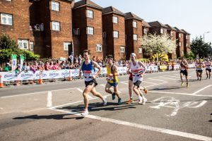 Rob McTaggart in with a group at the London Marathon