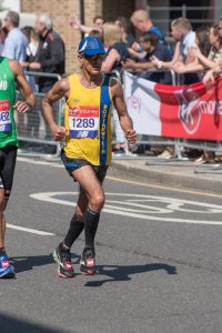 Sanjai Sharma going well in London Marathon