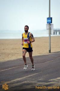 Trevor Elkins on promenade at Bournemouth Bay 10k
