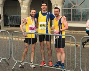 Trevor, László and Damian at Bournemouth Bay Run
