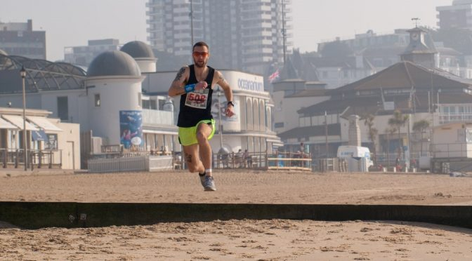 Trev Elkins in the Race the Tide Beach Race 5k