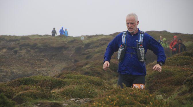 Andy Gillespie in rocky terrain in Devon Coast Challenge