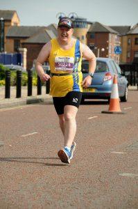 Julian Oxborough in the Liverpool Rock 'n' Roll Marathon