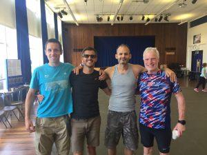 The Bournemouth AC men at the North Dorset Village Marathon