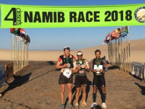 Men's top three in Namib race