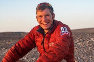 Ollie Stoten smiling in Namib Race