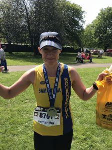 Sam Laws completes her first ever marathon