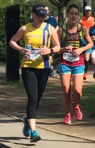 Sam Laws makes her way round the ABP Southampton Marathon course