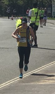 Sam Laws gives it all she's got in the ABP Southampton Marathon