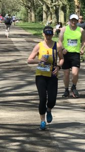 Sam Laws runs in the sun at the ABP Southampton Marathon