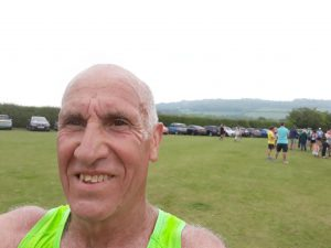 Simon Hunt in Bredon Cricket Club Tower Run