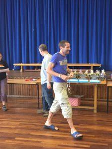Steve picks up his winner's medal