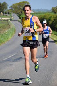 Stu Nicholas in the North Dorset Village Marathon