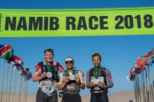 The top 3 in the Namib Race