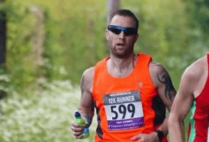Trevor Elkins in the Clanfield Challenge 12k