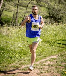 Trev Elkins going well in Run the River 15k