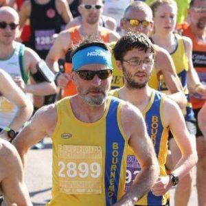 Adrian Townsend and Tom Paskins at Poole Festival of Running