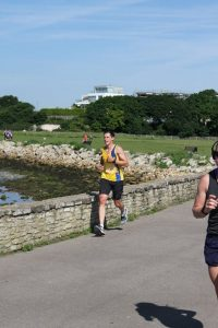 Ben Walliman by wall in Poole 10k