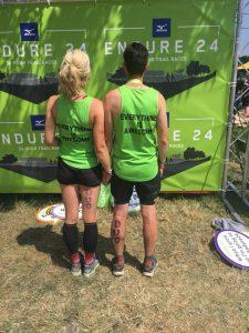 Emma Draper and Chris O'Brien from behind at Endure 24