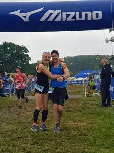 Emma Draper and Chris O'Brien finishing at Endure 24