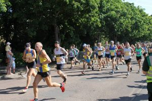 Graeme Miller and Sanjai Sharma in Poole Half Marathon