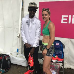 Harriet Slade with Sir Mo Farah at Vitality 10,000