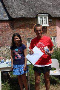 Jacek Cieluszecki wins the Lulworth Castle 10k