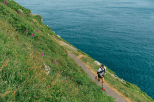 Jacek Cieluszecki on the coast in the Maverick inov-8 X Series Exmoor