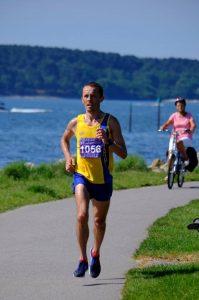 Jacek Cieluszecki in Poole Half Marathon