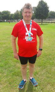 Julian Oxborough after Heron Half Marathon