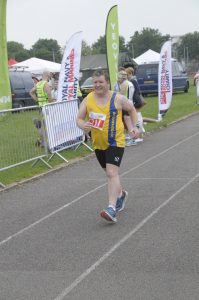 Julian Oxborough during Heron Half Marathon