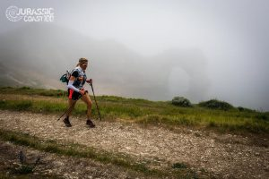 Linn Exison Sahlström makes her way in the Jurassic Coast 100