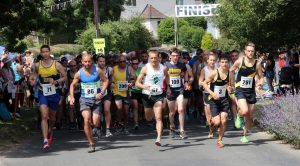 The Lulworth Castle 10k gets underway