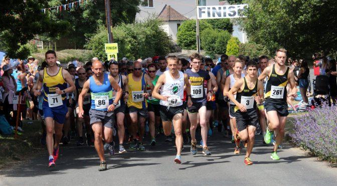 The Lulworth Castle 10k gets underway