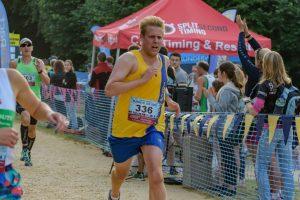 Phil Cherrett finishing Purbeck 10k