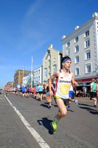 Tag on the march in Poole 10k
