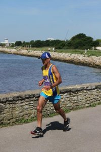 Sanjai Sharma going well in Poole Half Marathon