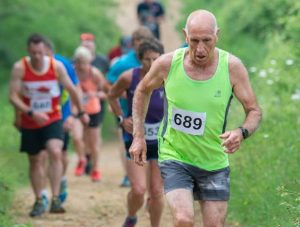 Simon Hunt going up Bredon Hill