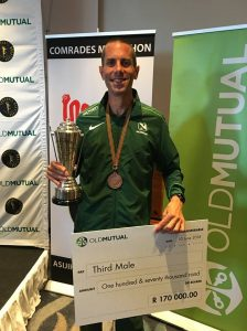Steve Way took 3rd place in Comrades Marathon