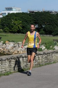 Steve Way by wall in Poole 10k